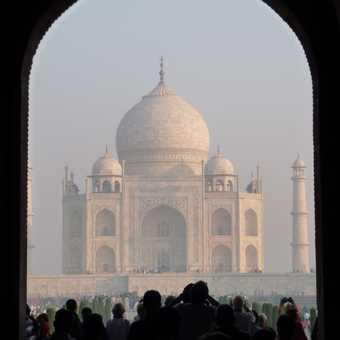 First view of Taj Mahal