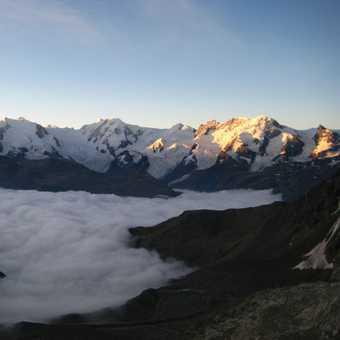 Sunrise on Monte Rosa