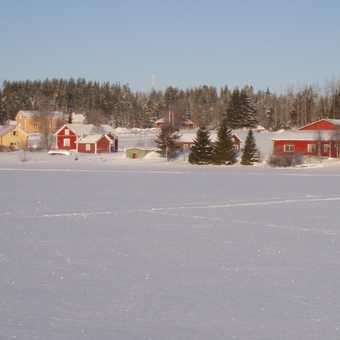 Buildings around lake - whilst cross-country skiing.