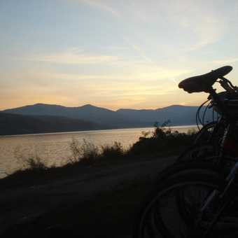 Sunrise with bikes