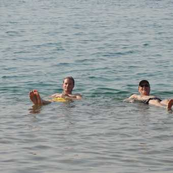 Life seen in the dead sea