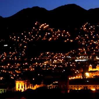 Cusco at night.