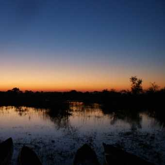 after sunset in the Delta