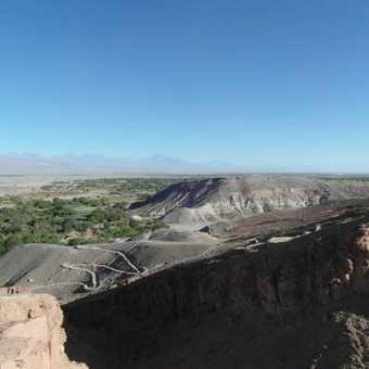 View of San Pedro de Atacama from Pucara de Quitor