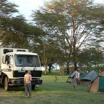 camp at lake naivasha