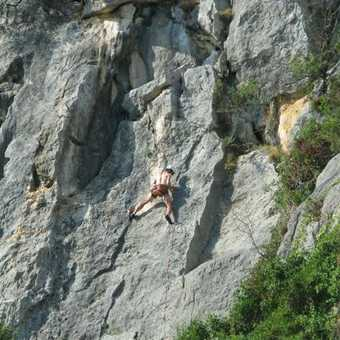 Climbers at Carla Fuili