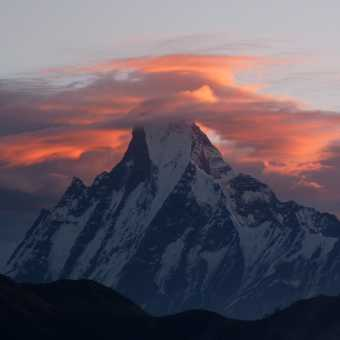 Machupichare - The Fishtail - sunrise taken from poon Hill