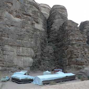 our camp at Wadi Rum