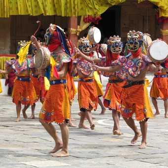 Monks at festival