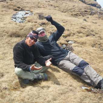 2/4 Ngima our leader and Peter hamming it up