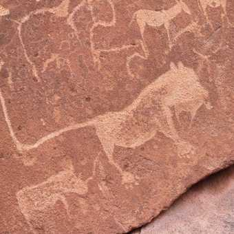 Ancient rock engravings - the Lion Man