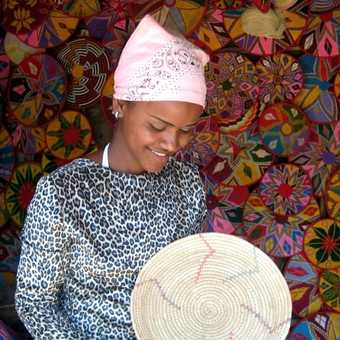 Pretty basket seller - Axum