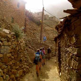 Passing through the village of Tamatert