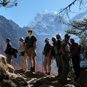 Climbing to Thyanboche Monastery