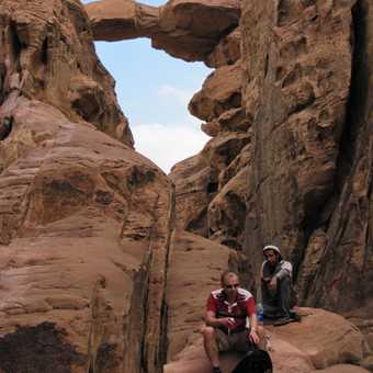 Rock bridge on Jebel Burdah