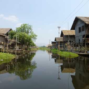 Side street - floating island, Inle lake