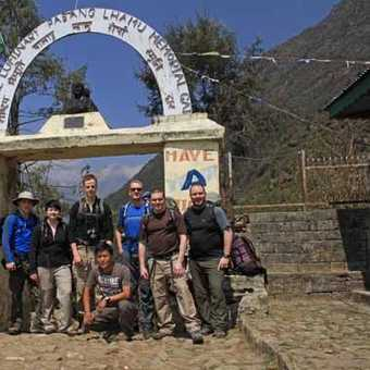 Setting off from Lukla