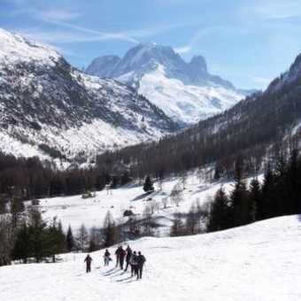 Snowshoeing in Vallorcine