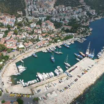 View over Kas harbour