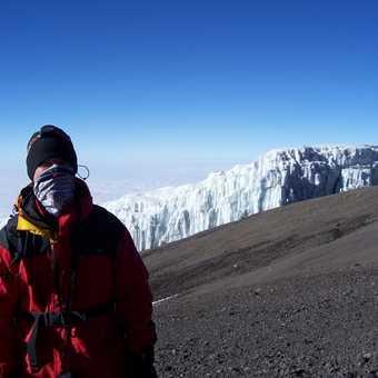 Near the summit, feelin the cold.