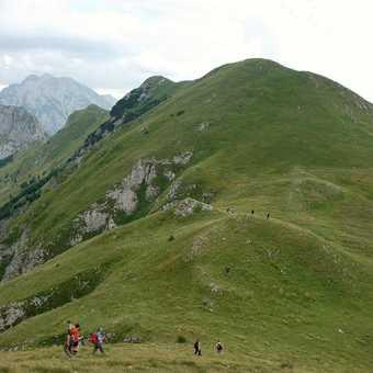 Walking the ridge; Sutjeska National Park