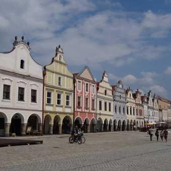 The main square in Telc, Czech Republic