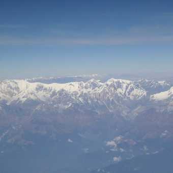 Leaving the Himalaya behind as we fly out of Kathmandu