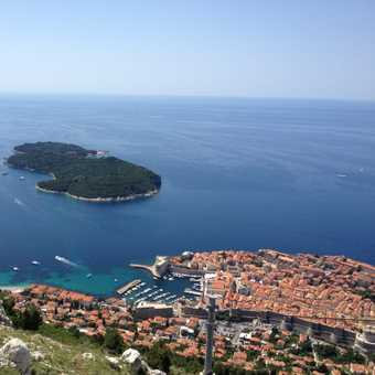 Dubrovnik from top of cable car