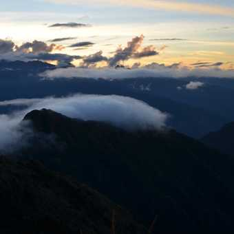 Clouds rolling in over the Andes