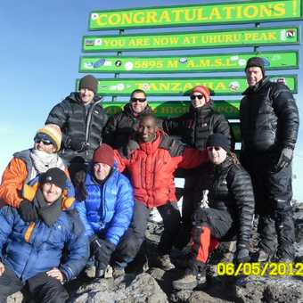 Uhuru Peak - 5895 metres, the roof of Africa