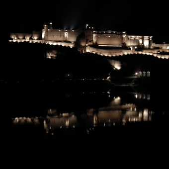 amber fort at night