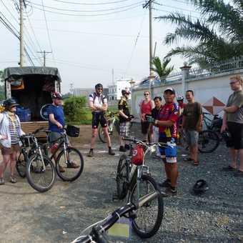 Preparing our bikes
