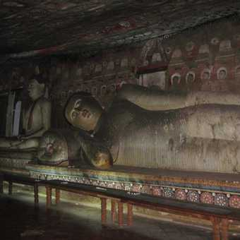 Sleeping Buddha at Sigiriya Temple
