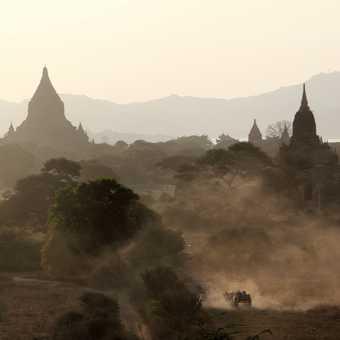 Bagan at dusk