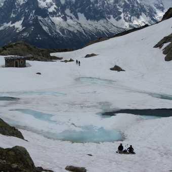 A frozen Lac Blanc