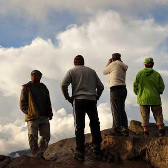 admiring the views at campsite 3