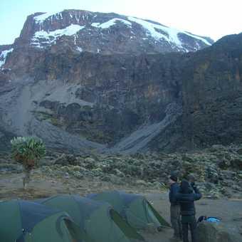 Kilimanjaro from Barranco campsite 3900m Day4 (evening)