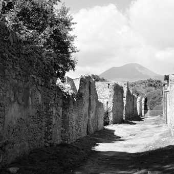 Pompeii with Vesuvius looming