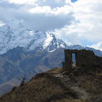Inca ruins with a view of Mt Veronica
