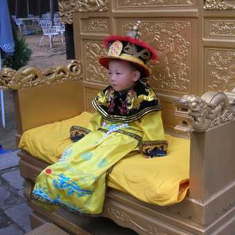 An emperor in the making @ The East Qing Tombs.