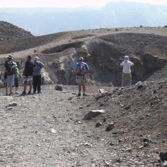 Looking down into the twin craters of Nea Kameni