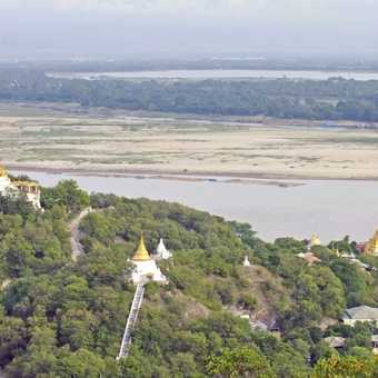 Views above the Irrawady River near Mandalay
