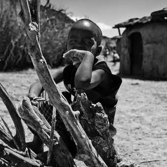 Young Warrior, Masai village