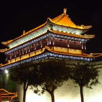 Xi'an city wall by night
