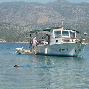 Boat lady Kekova