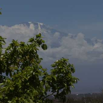 Kili from a distance (but summit day is getting closer)