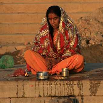 Morning meditation, Ganges
