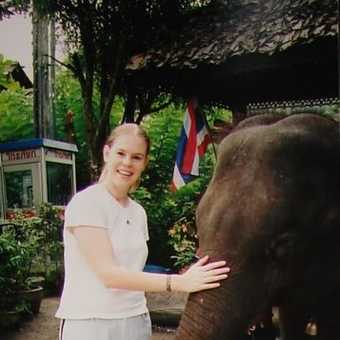 At the elephant sanctury