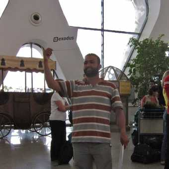 Abdullah meeting our flight