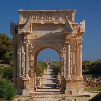 Arch of Septimus Severus in Leptis Magna